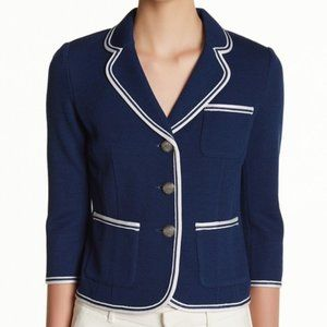 St. John collection milano pique knit crop blazer